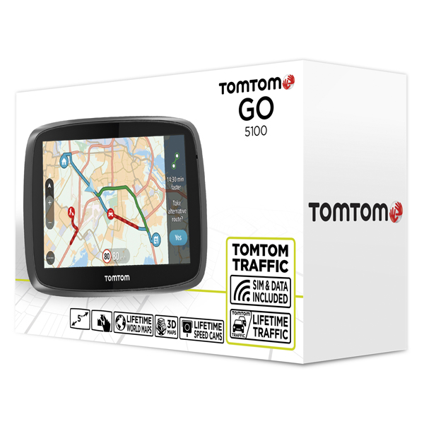 sistem de navigatie tomtom go 5100 5 full europa my drive. Black Bedroom Furniture Sets. Home Design Ideas