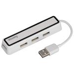 Hub USB HAMA 12169, 4 porturi, alb