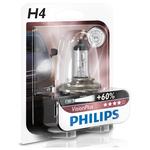 Bec auto far halogen PHILIPS H4 Vision Plus+60%, 12V, 60/55W, P43T-38, blister 1 bucata