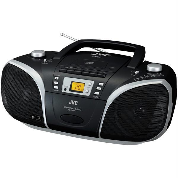 Radio casetofon cu CD JVC RC-EZ57, 4W, CD, frontal 1 disc, MP3, negru