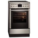 Aragaz AEG 47995IQ-MN, 4 zone de gatit, inductie + electric, inox antiamprenta