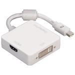 Cablu adaptor 3 in 1 Mini-Display Port - Display Port / HDMI / DVI-I HAMA 53245