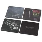 Mouse Pad HAMA 54753, 1 bucata, 4 sloganuri diferite, negru