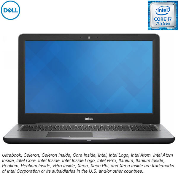 "Laptop DELL Inspiron 5567, Intel® Core™ i7-7500U Procesor pana la 3.5GHz, 15.6"" Full HD, 8GB, SSD 256GB, AMD Radeon R7 M445 4GB, Ubuntu 16.04"