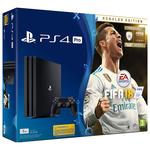 Consola SONY PlayStation 4 PRO (PS4 PRO) 1TB, negru + Joc FIFA 18 Ronaldo Edition