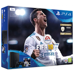 Consola SONY PlayStation 4 Slim (PS4 Slim) 1 TB, negru + FIFA 18