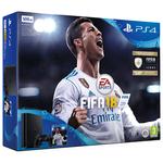 Consola SONY PlayStation 4 Slim (PS4 Slim) 500GB, negru + FIFA 18
