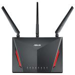 Router Wireless Gigabit ASUS RT-AC86U AC2900, Dual Band 750 + 2167 Mbps, USB 2.0, USB 3.0, negru
