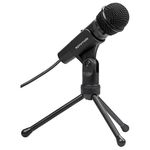 Microfon PROMATE Tweeter-9, Jack 3.5mm, 1.8m, negru