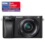 Camera foto digitala compacta SONY Alpha A6300 cu obiectiv interschimbabil 16-50mm, 24.2Mp, 4K, 3 inch, negru