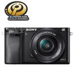 Camera foto digitala compacta SONY Alpha A6000 cu obiectiv interschimbabil 16-50mm, 24.3Mp, 3 inch, negru