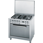 Aragaz HOTPOINT CP97SEA/HA, gaz+electric, 5 zone de gatit, inox