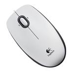 Mouse optic LOGITECH B100, cu fir, USB, alb