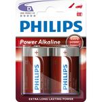 Baterii alcaline R20 PHILIPS LR20P2B/10, 2 bucati