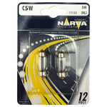 Bec auto halogen NARVA 171254000, C5W, 12V, 5W, SV8, 5-8 blister 2 bucati