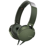Casti on-ear cu microfon SONY MDR-XB550APG, Extra Bass, Verde