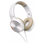 Casti on-ear cu microfon PIONEER SE-MJ722T-T, alb-maro