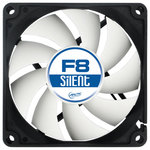 Ventilator ARCTIC F8 Silent, 80mm, 1200rpm, 3-pin