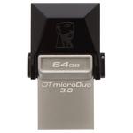 Memorie portabila KINGSTON DataTraveler microDuo 3.0, 64GB, USB 3.0, micro USB, negru