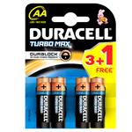 Baterii DURACELL AA Turbo Max Duralock, 3+1 bucati