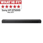 Soundbar premium Dolby Atmos 7.1 SONY HTST5000, Hi-Res, 400W, subwoofer wireless, Bluetooth, NFC, negru