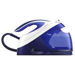 Statie de calcat PHILIPS PerfectCare Performer GC8731/20, talpa SteamGlide Plus, 2600W, 1.8l, 390 g/min, alb-albastru