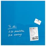 Tabla magnetica-sticla artverum® SIGEL GL117, 48 x 48 cm, albastru turcoaz