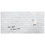 Tabla magnetica-sticla artverum® SIGEL GL144, 91 x 46 cm, White Stone