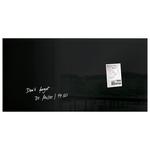Tabla magnetica-sticla artverum® SIGEL GL145, 91 x 46 cm, negru