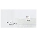 Tabla magnetica-sticla artverum® SIGEL GL146, 91 x 46 cm, alb