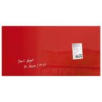Tabla magnetica-sticla artverum® SIGEL GL147, 91 x 46 cm, rosu