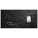 Tabla magnetica-sticla artverum® SIGEL GL149, 91 x 46 cm, negru