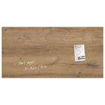 Tabla magnetica-sticla artverum® SIGEL GL258, 91 x 46 cm, maro