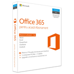 Microsoft Office 365 Home, 32/64 bit, Romana EuroZone, Subscriptie 1 an, 5 PC/Mac, 5 Tablete, 5 Telefoane