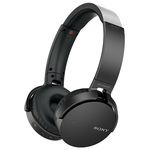 Casti on-ear cu microfon Bluetooth SONY MDR-XB650BTB, Wireless, NFC, Extra-BASS, negru
