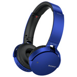 Casti on-ear cu microfon Bluetooth SONY MDR-XB650BTL, albastru