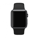 Bratara pentru APPLE Watch 38 mm, silicon, black