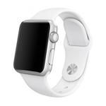 Bratara pentru APPLE Watch Seria 1, 42 mm, silicon, white
