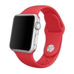 Bratara pentru APPLE Watch Seria 1, 38 mm, silicon, red