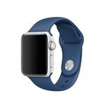 Bratara pentru APPLE Watch Seria 1, 38 mm, silicon, ocean blue