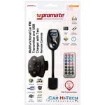 Modulator FM PROMATE FM10PLUS, telecomanda pe volan