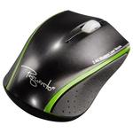 Mouse Wireless laser HAMA Pequento 2, USB, negru/verde