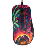 Mouse gaming STEELSERIES Rival 300 CS: GO Hyper Beast Edition, negru