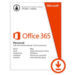 Licenta electronica ESD Microsoft Office 365 Personal, 32-bit/x64, 1 PC/MAC + 1 tableta/iPad, 1 an