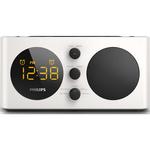 Radio cu ceas PHILIPS AJ6000/12, FM, intrare audio, alb