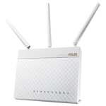 Router Wireless ASUS RT-AC68W Dual-Band, 600 + 1300Mbps, WAN, LAN, USB 2.0, USB 3.0, alb