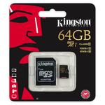 Card de memorie microSDXC 64GB clasa 10 UHS-I KINGSTON SDCA10/64GB