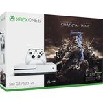 Consola MICROSOFT Xbox One Slim 500 GB, alb + Joc Shadow of War (cod download)
