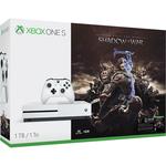Consola MICROSOFT Xbox One Slim 1 TB, alb + Joc Shadow of War (cod download)